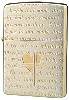 ZIPPO(ジッポー) ラバーズ・クロス メッセージALL エッチング シルバーサテーナ×ピンクゴールド