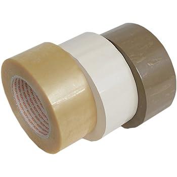 ROLLO PRECINTO PP 125m x 48mm BLANCO adhesivo ACRÍLICO (Pack de 6 rollos): Amazon.es: Bricolaje y herramientas