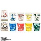 サンナップ 紙コップ スヌーピー 100ml 使い捨て ミニ ペーパーカップ ピーナッツ 小さいサイズ 8種類のデザイン 日本製 25個入