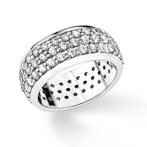 S. Oliver Damen-Ring 925 Silber Zirkonia weiß Gr. 52 (16.6) - 384940