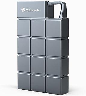 Yottamaster ポータブルSSD 500GB 最大950MB/s USB3.1(Gen2) 10Gbps 外付けSSD 防滴 耐振 耐衝撃 PC/Mac/PS4対応 アルミニウム グレー 3年保証[HCES3-512G-GY]