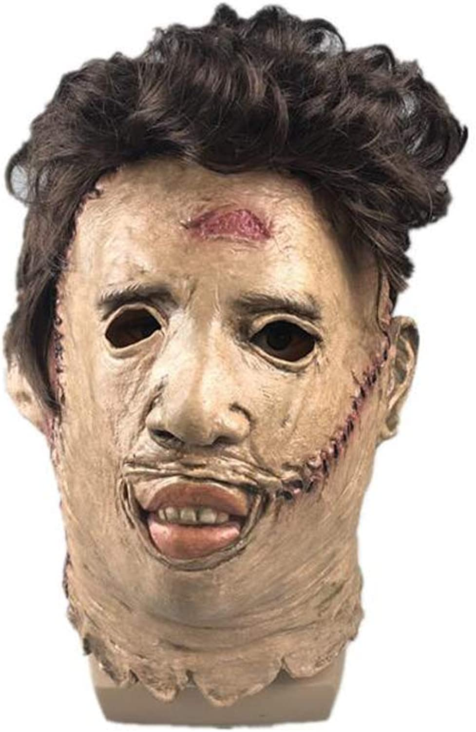 Halloween Horror Mask, Chainsaw Murder Mask, Movie Props Latex Mask