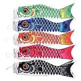 IMIKEYA 5 Piezas 70Cm Carpa Japonesa Windsock Streamer Fish Koinobori Bandera Cometa Adornos Colgantes para La Decoración del Festival de Sushi Bar