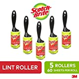 Scotch-Brite lint roller, 60 sheets/roll, 5 Count