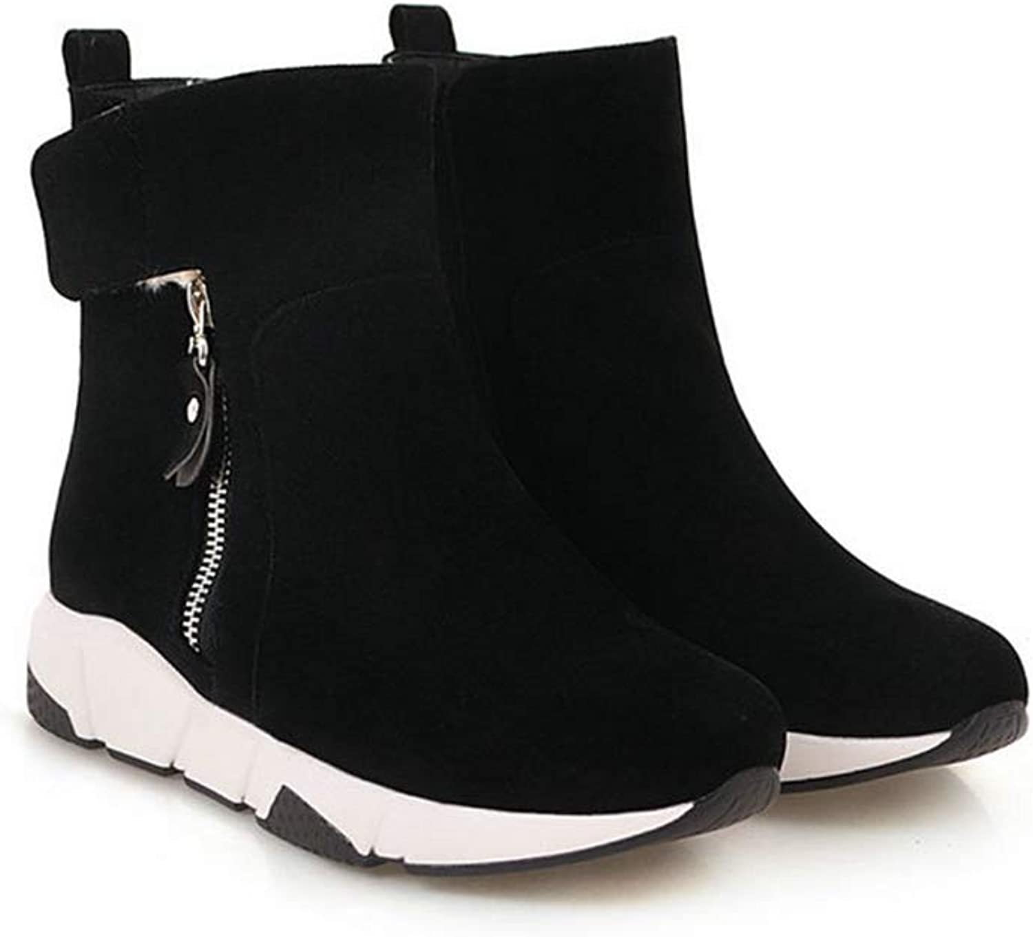T-JULY Women's Fashion Flat Heels Boots Girl's Ankle Boots Spring Boots Brand Sock shoes Woman Botas