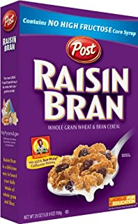 Post Raisin Bran Cereal, 25-Ounce Boxes (Pack of 5)