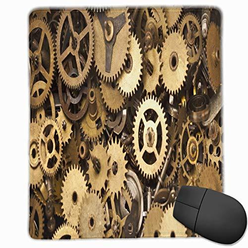 Steampunk Gears Rectángulo Alfombrilla de Goma Antideslizante Accesorios para computadora 18 x...