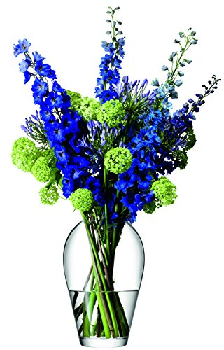 LSA International Vase à Grand Bouquet de Fleurs, Transparent, 35 cm de Haut