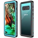 GOLDJU Samsung Galaxy S10 Plus Waterproof Case,S10 Plus Case Built in Screen Protector 360° Full Body Protective Shockproof Dirtproof Sandproof IP68 Underwater Waterproof Case for Samsung S10 Plus 6.4