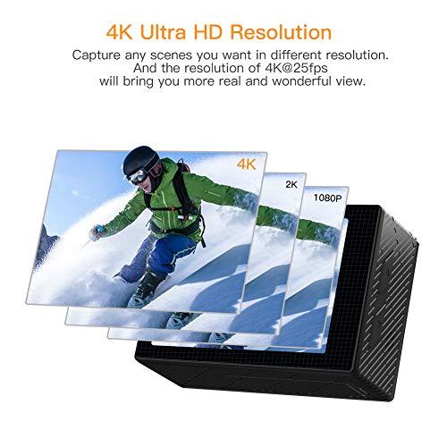 APEMAN Action Cam 4K WiFi Camera 16MP Ultra Full HD Unterwasser Kamera Helmkamera Wasserdicht mit 2.4G Fernbedienung 2 verbesserten Akkus und Montage Zubehör Kit - 3