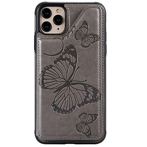 Best Bargain Case for iPhone 11 Pro Max, The Grafu Wallet PU Leather Case with Card Holder, Butterfl...