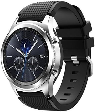 Amazon Com Samsung Galaxy Gear S3 R775 Classic Smartwatch Bluetooth S3 Classic Black Silicone Band Renewed Camera Photo