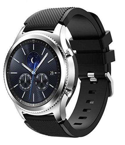Samsung Galaxy Gear S3 R775 Classic Smartwatch (Bluetooth) (S3 Classic Black Silicone Band) (Renewed)