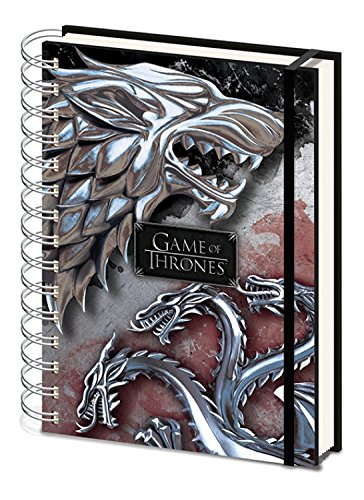 1art1 Game of Thrones - Stark & Targaryen Notizbuch Collegeblock Ringbuch 21 x 15 cm