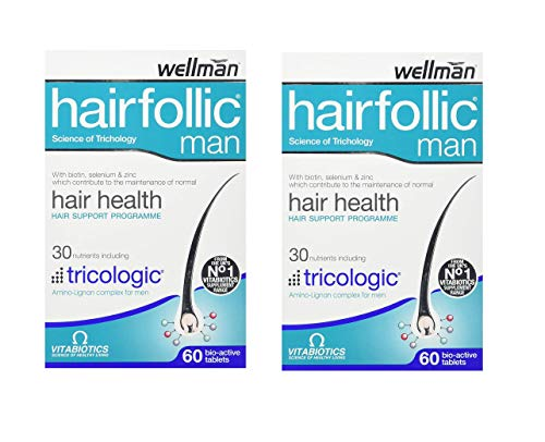 Vitabiotics Wellman Hairfollic Man - 60 Tablets (Pack of 2)