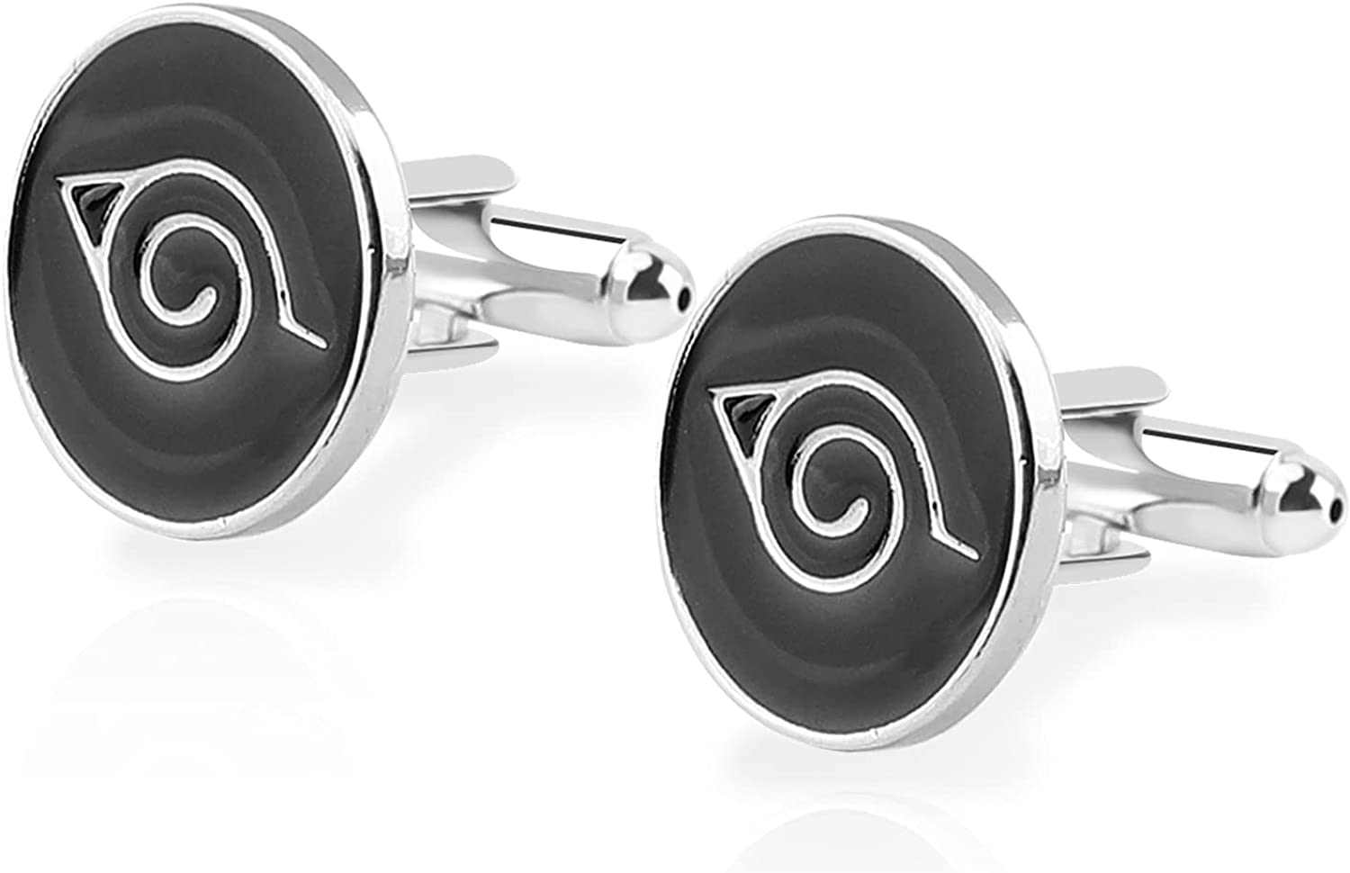 Anime Classic Cufflinks for Men Formal Wear Anime Tie Clips For Men Party Shirt Cufflink with Gift Box