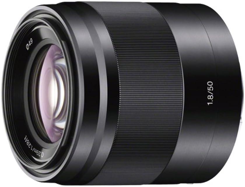 Sony SEL50F18B - Objetivo para Sony (distancia focal fija 50mm apertura f/1.8-22 estabilizador) negro