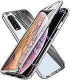 Glas Handyhülle für Oppo Find X2 NEO 5G, [Metall Rahmen] Hülle Magnetisch Adsorption [Doppelseitig 9H Glas] Aluminium Bumper Magnet Hülle Kratzfeste Panzerglasfolie 360 Schutzhülle, Silber