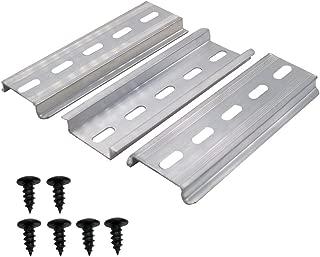 mxuteuk 3 pcs MXU-DIN-100 DIN Rail Slotted Aluminum RoHS 4