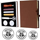 VIHOME Magic School Badge for Hogwarts Magic School Wax Seal Stamp Kit Retro Stamp Maker Kit Great for HP Fans and Christmas Day(Hogwarts)