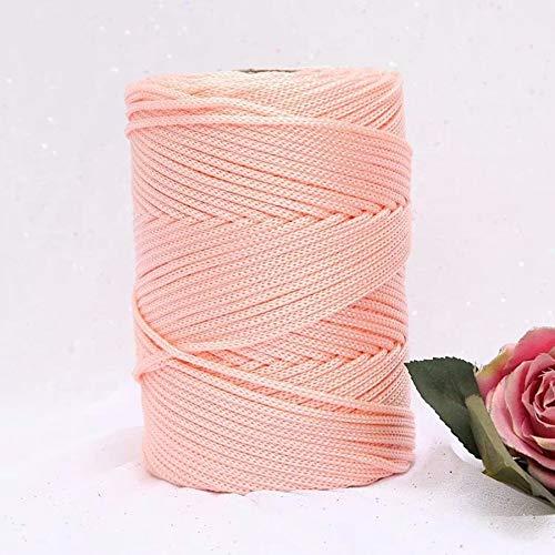 XINSHENG Store 230G / Häkeln Wool Licht Viscose Eisseide 3mm Hohlnylonfaden for Sonnenhut Handhaken (Farbe : Orange pink)