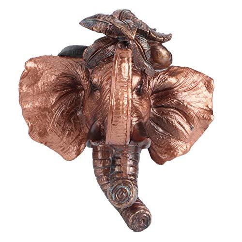 Gancho para roupas, Gancho para toalhas Gancho sem pregos Gancho para pendurar na parede, Casaco Gancho para toalhas para banheiro quarto casa(Elephant (antique copper))