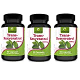 Complément de ResvératrolHaute Concentration en Gélules 500mg – Qualité Supérieure – PAS en Comprimés ou en Poudre – 60 Gélules Végétaliennes par Pot 2 mois de Cure
