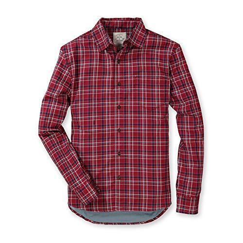 Hope & Henry Men's Cotton Convertible Double Weave Button Down Shirt