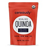 CEREAUSLY Fully Cooked Organic Red Quinoa   4 LB (2 LB Pack of 2)