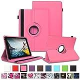 NAUC Tablet Schutzhülle für Medion Lifetab P8912 Hülle Tasche Standfunktion 360° Drehbar Cover Universal Case, Farben:Pink