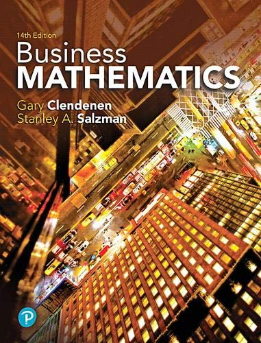 Compare Textbook Prices for Business Mathematics What's New in Trade Math 14 Edition ISBN 9780134693323 by Clendenen, Gary,Salzman, Stanley