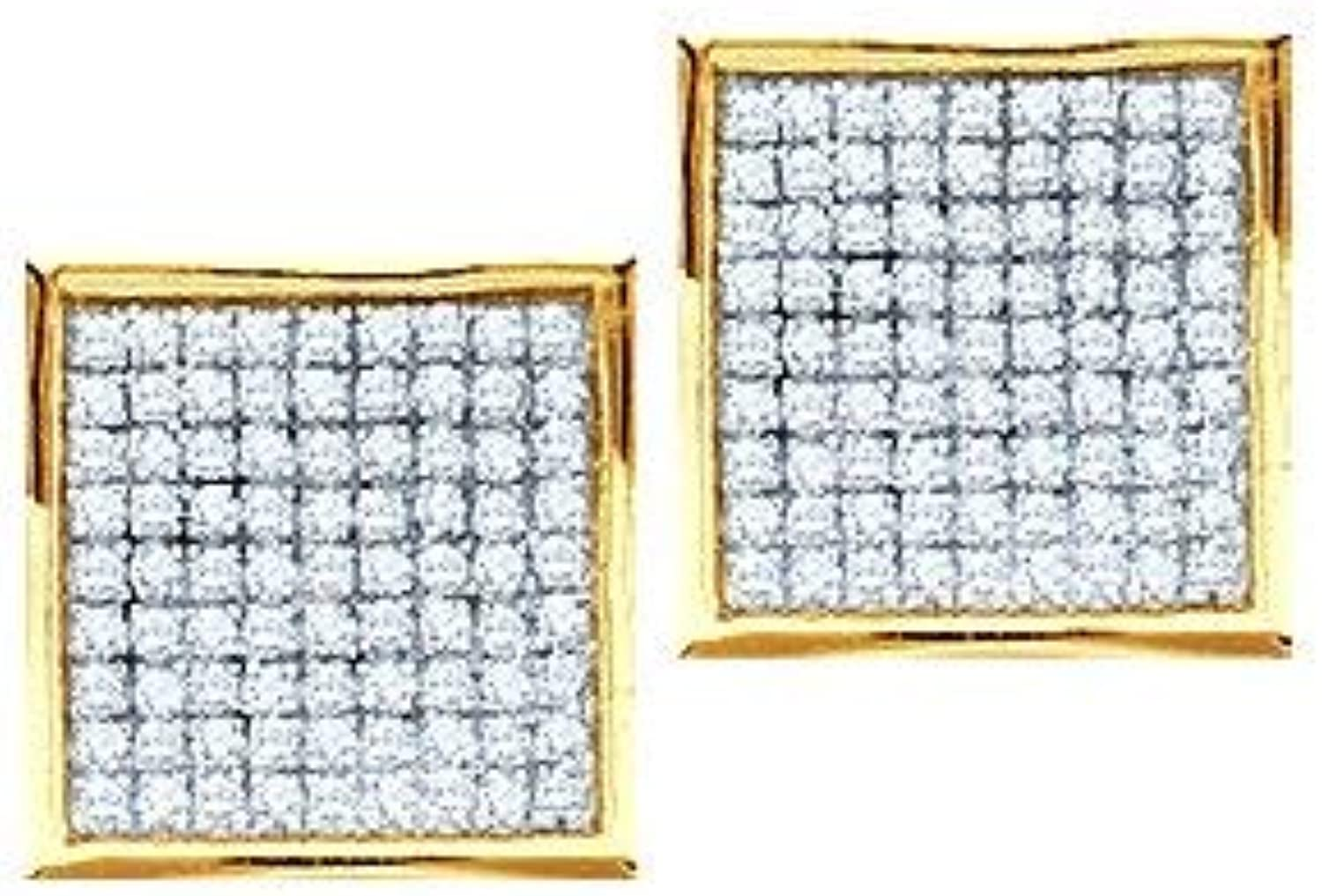 1 6 Total Carat Weight DIAMOND MICROPAVE EARRINGS