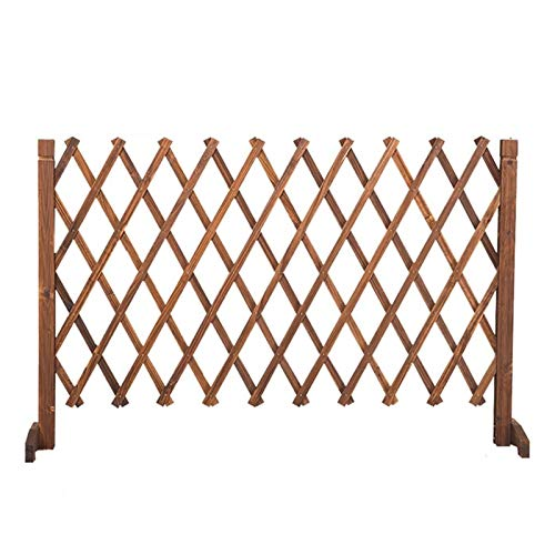 JHZWHJ Garden Fencing,Wood Privacy Fence,Telescopic Guardrail Lattice Panels for Outside,for Climbing Plants/Animal Barrier (Color : 91CM)