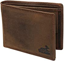 Fa.Volmer® VO19 men's leather wallet brown with RFID protection, real leather wallet, used-look. Brown