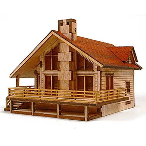 commercial model kits for adults A set of table wood model garden house A with a large terrace by a young modeler by a young modeler