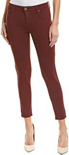 Womens Donna Ankle Skinny Jeans in Deep Plum