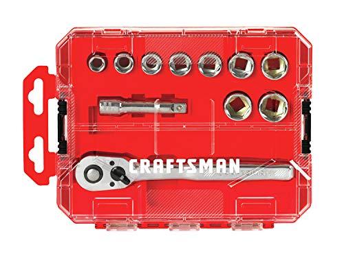 CRAFTSMAN Socket Set with Ratchet, Metric, 3/8-Inch Drive, 11-Piece Set (CMMT12027)