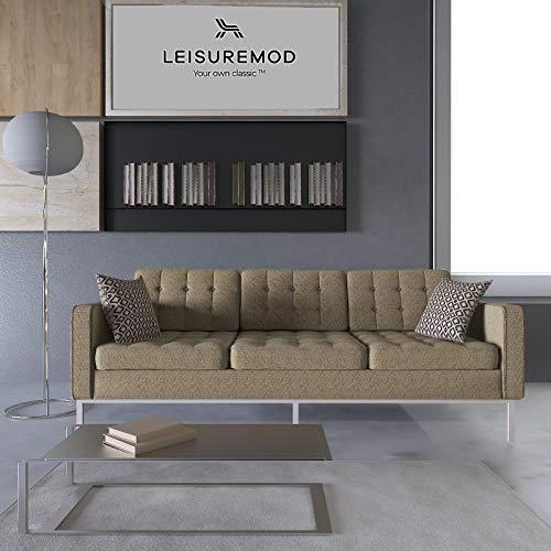LeisureMod Florence Style Mid Century Modern Tufted Sofa...