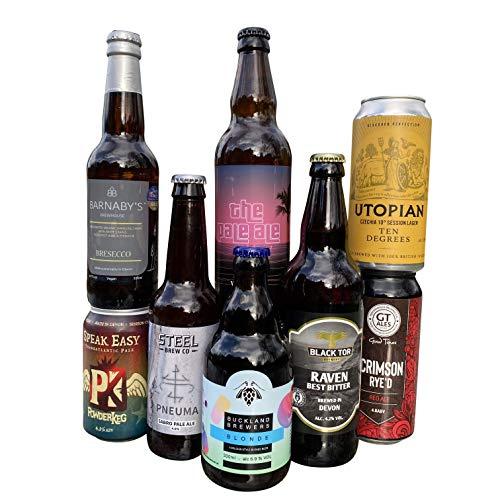 QWERTY Beer Box | Devon Craft Beer Tasting Kit & Gift | 8 Tasty Craft Beers Handpicked from Independent Devon Breweries