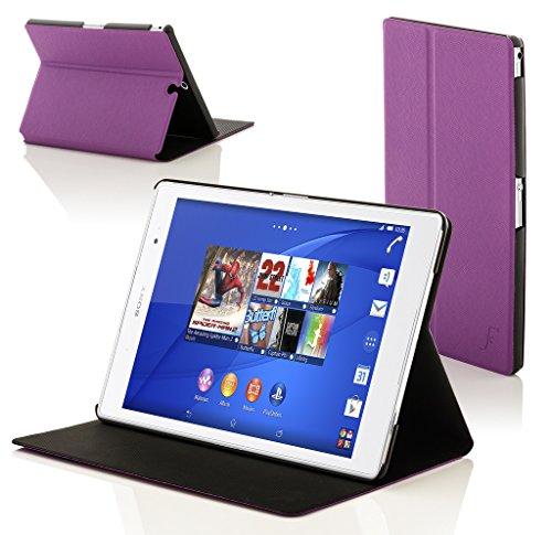 sony xperia z3 tablet compact Forefront Cases® Sony Xperia Z3 Tablet Compact 8 inch SGP611 Smart Custodia Caso Case Cover Conchiglia - Ultra Sottile con Protezione Dispositivo Completa e funzione Auto Sveglia/Sonno (VIOLA)