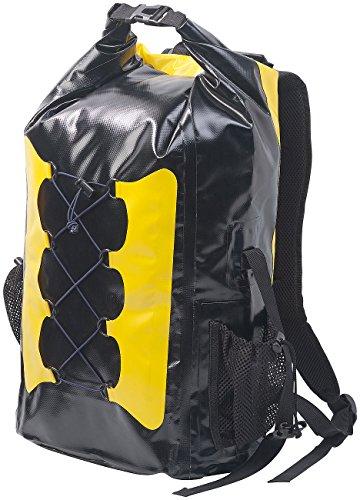 Semptec Urban Survival Technology Fahrradtaschen: Wasserdichter Trekking-Rucksack aus LKW-Plane, 30 Liter, gelb/schwarz (Fahrradrucksack wasserdicht)
