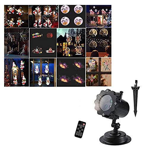 DALLL Halloween Proyector de Luz Impermeable Navidad Luces del Proyector con Control...