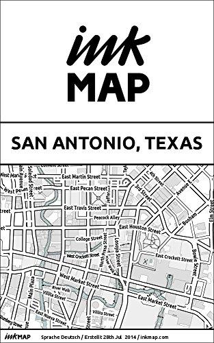 Inkmap San Antonio, Texas - Karten für eReader, Sehenswürdigkeiten, Kultur, Ausgehen (German)
