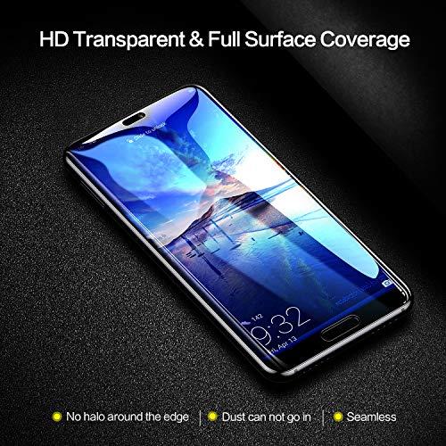 SmartDevil Huawei P20 Panzerglas Schutzfolie [2-Stück] [mit Installation Werkzeug] [Full Glue Coverage] 9H Härte,Blasen und HD Anti-Öl,Panzerglas Schutzfolie für Huawei P20 (Schwarz) - 5