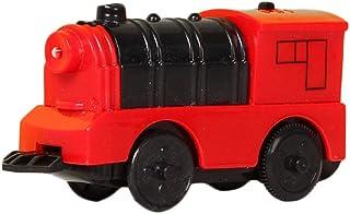 iBàste Tren de Juguete Motor de batería Tren de Trenes Tren eléctrico de Madera para niños Compatible con riel de Madera