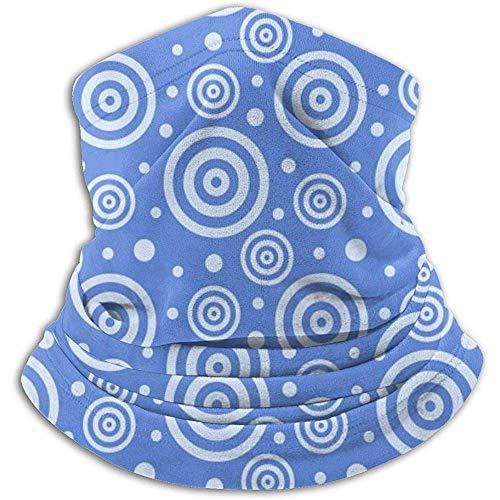 Linger In Blue Circles Neck Gaiter Face Mask Bandana Seamless Headband Ski Riding Running