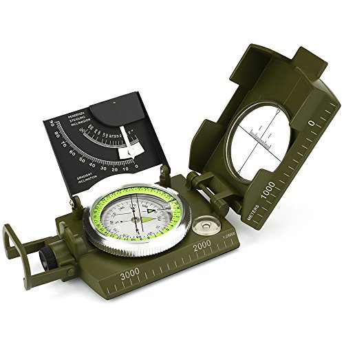 ydfagak Compass Waterproof Hiking Military Navigation Compass with Fluorescent Design,Perfect for Outdoor Activities