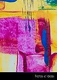 Notas e Ideas: Cuaderno / diario pequeño pintura abstracto