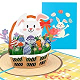 Carte di Pasqua,Easter Card 3D,DIY Biglietto di Auguri di Pasqua,Coniglio di Pasqua con Buste,Sorpresa Buste per Carte,Easter Bunny Design Auguri di Pasqua per Bambini