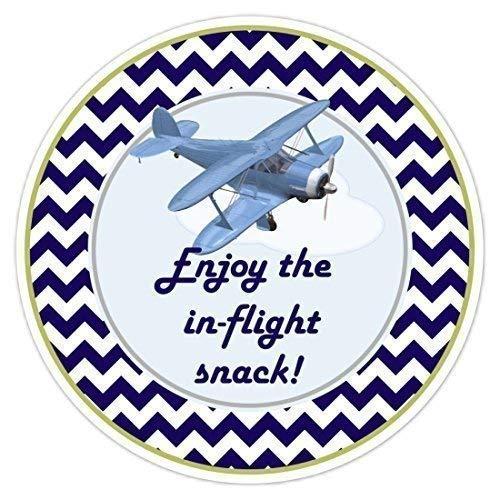 Sandy66Twain Luchtvaart Stickers, Vliegtuig Verjaardag stickers, In vlucht Snack Verjaardag Labels Party Favors Tassen Labels